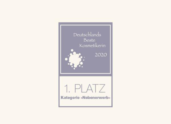 Logo 1. Platz Wettbewerb Beste Kosmetikerin 2020