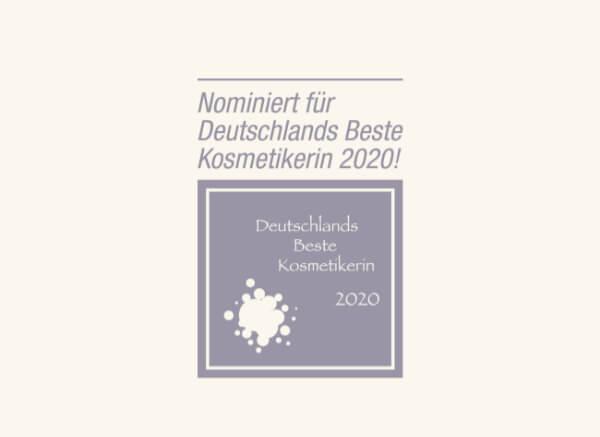Logo Nominiert Beste Kosmetikerin 2020